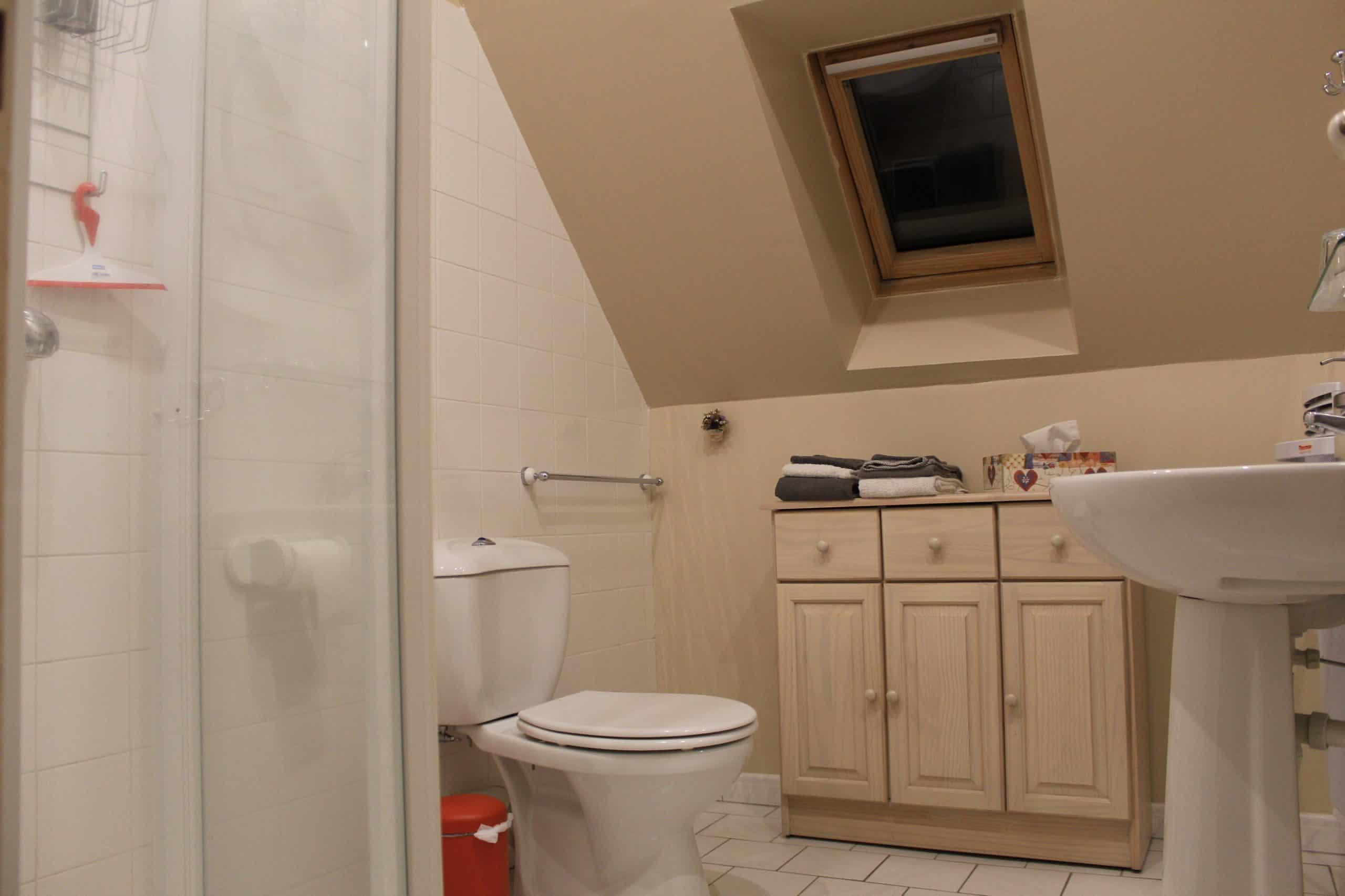 Salle de bain chambre Ronsard, chambres d'hôtes Le Grand Launay à Semblançay